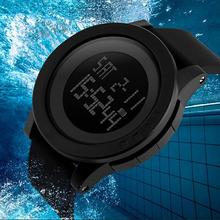 SKMEI 1142 Casual Waterproof Watch Men Multifunctional LED D