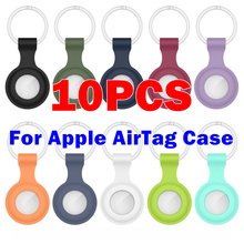 10pcs適アップルairtagシリコン保護シェルポジショニングシリコーントラッカーポータブル保護カバーFhx 18HB