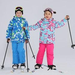 Enfants Ski costume enfants marques imperméable chaud filles et garçon neige veste et pantalon hiver Ski et snowboard vêtements enfant