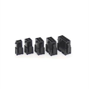 50 sztuk 3.0mm mikro-Fit 3.0 złącze obudowy wtyczki 2 Pin 4 6 8 10 12 14 16 18 20 22 24 P z dwoma mocowanie panelu uszy krzyż Molex 43020