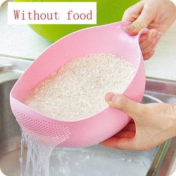 Durable Rice Washing Filter Drain Basketry Kitchen Tool Fruit Beans Peas Sieve Basket Colanders Cleaning Gadget Filtering