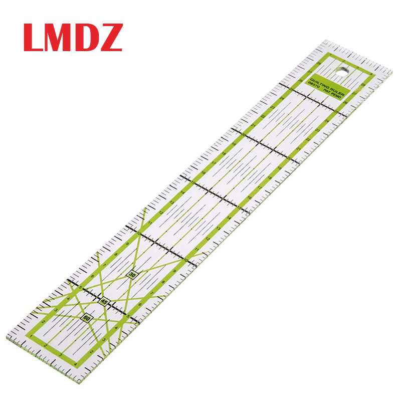 LMDZ 1Pcs 5*30cm Double-color Ruler Patchwork Feet Tailor Yardstick Cutting Quilting DIY Sewing Tools Stationery Drawing Ruler