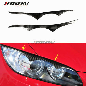 Headlight Head Light Lamp Cover Eyelid Eyebrow Trim For BMW 3 Series E92 E93 M3 Coupe 2008-2013 Real Carbon Fiber image