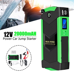 High Power Car Jump Starter 20000MAh Starting Device with Quick Charger, 12V 600A Power Bank Car Charger EU Plug