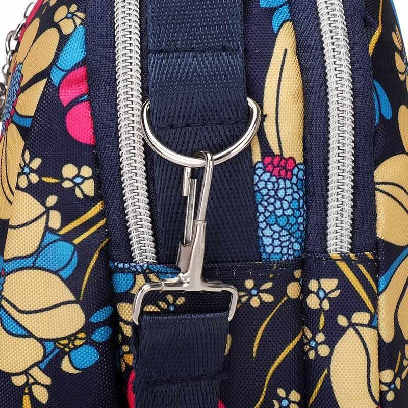 נשים מודפס ניילון Tote תיק מקרית כתף Crossbody שקיות עבור נשים גדול קיבולת שקיות שליח חבילה נייד טלפון מקרה