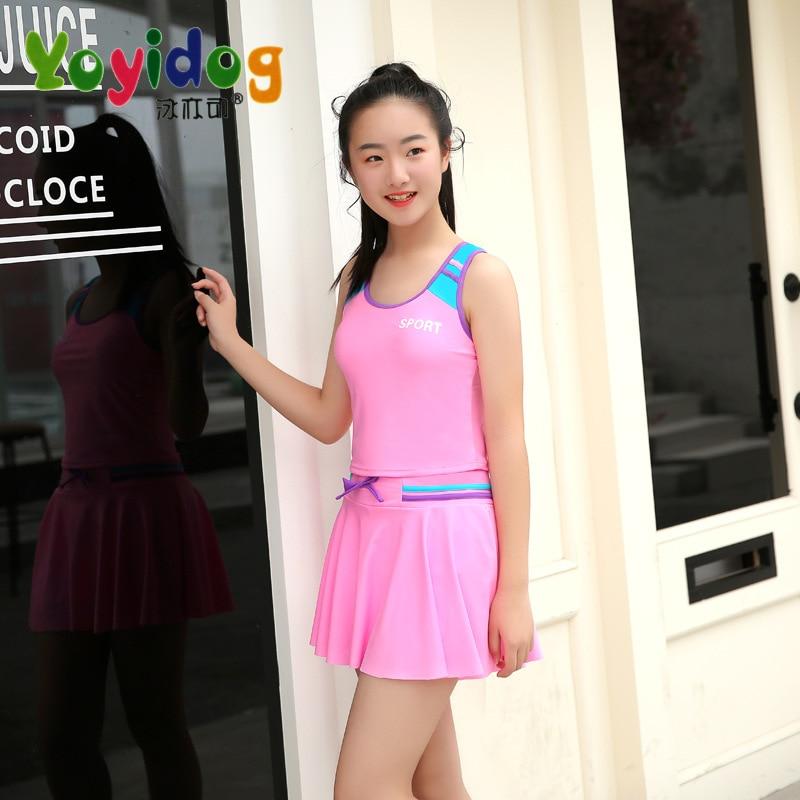 KID'S Swimwear Women's Big Kid 10-15 Children Bathing Suit GIRL'S GIRL'S Swimsuit In Big Kid South Korea Fan Children Princess S