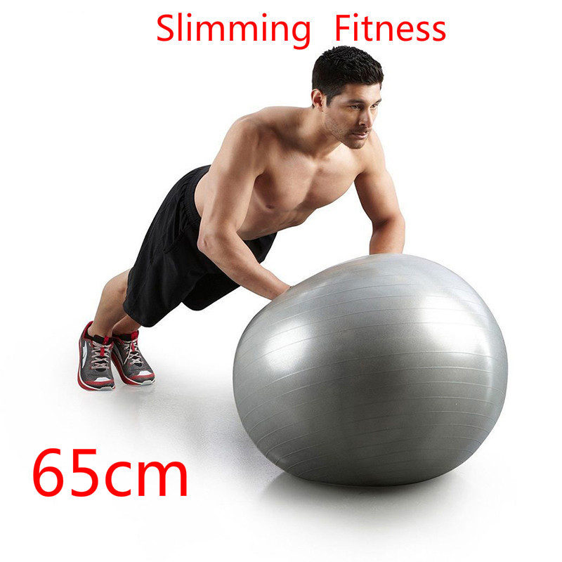 Man Woman Sports Yoga Balls Bola Pilates Fitness Gym Balance Fitball Exercise Pilates Workout Massage Ball 65cm Balance Ball