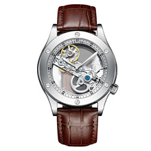 TEVISE AUTOMATIC MEN WATCH LEATHER GLASS