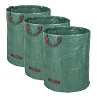 3pcs/set 72 Gallons Garden Bag Set of 3pcs Reusable Gardening Bags Garden Leaf Waste Bag Waste Sacks Yard Waste Bags