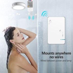 Image 5 - ワイヤレス防水リモートコントロールスイッチなしワイヤー必要壁のプッシュボタンは照明ランプファンオン/オフスイッチ