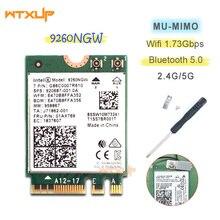 9260NGW اللاسلكية واي فاي بطاقة الشبكة إنتل 9260AC ثنائي النطاق 1730mbps NGFF 802.11ac واي فاي بلوتوث 5.0 لأجهزة الكمبيوتر المحمول ويندوز 10
