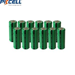 12pcs PKCELL 1.2V NiMH 2/3AAA Batteries 400mAh Ni-Mh Rechargeable Battery No Tab Flat Top