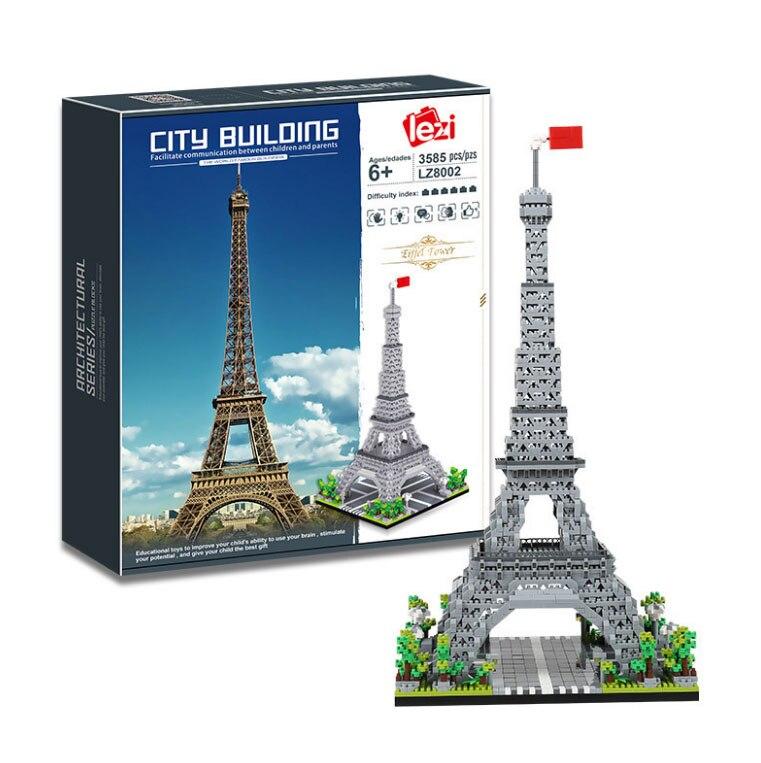Balody World Famous Architecture Diamond Building Blocks Toy Taj Mahal Vassili Church Big Ben London Bridge 23