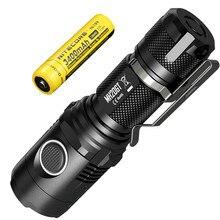 NITECORE Lámpara de luz LED MH20GT, 1000 lúmenes, CREE, resistente al agua, con batería de ion de litio recargable de 18650, Envío Gratis
