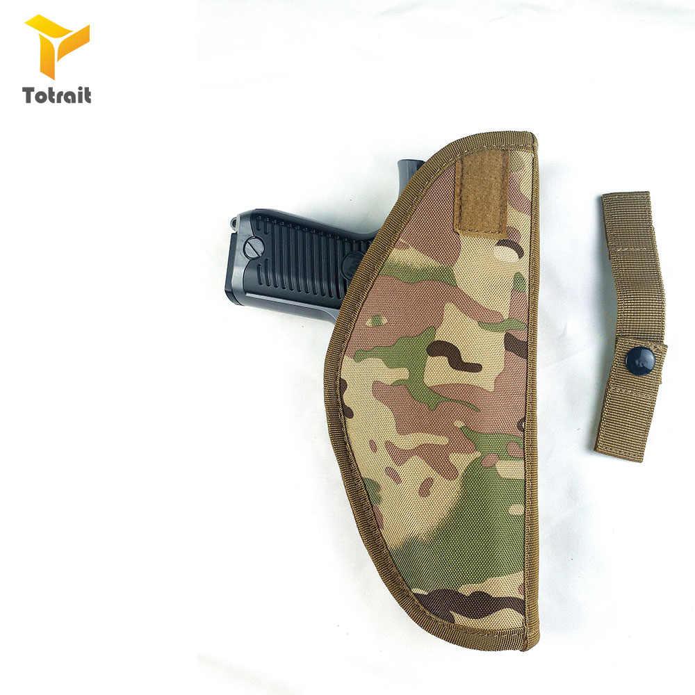 Totrait Taktische Nylon Holster Utility Airsoft Kampf Fit Für rechtshänder Taille Holster Gürtel Einfache Oxford Tuch Pistole Fall