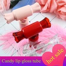 10/30 個キャンディ形状空のリップグロスチューブ唇バームボトルブラシ容器美容ツールミニ詰め替えボトルリップグロスチューブ