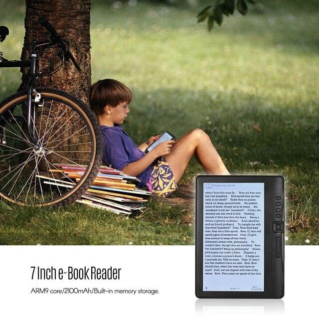 ABHU-LCD 7 pouces Ebook lecteur écran couleur intelligent avec résolution HD numérique E-Book vidéo MP3 lecteur de musique