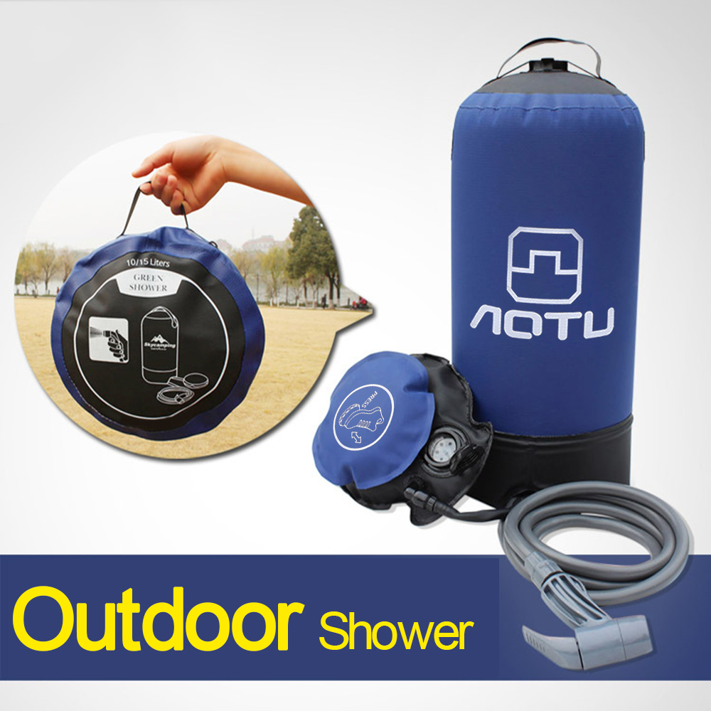 11L PVC Outdoor Inflatable Shower Pressure Water Bag Lightweight Bathing Travel Water Storage Portable Camping Shower Ducha in Water Bags from Sports Entertainment