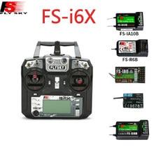Flysky I6X FS-i6X 10CH 2.4G AFHDS 2A RC verici kontrolü FS-iA6B FS-iA10B FS-X6B FS-A8S IA6 A8S alıcısı rc uçak