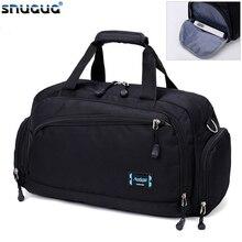 SNUGUG 2020 Men's Sports Gym Bags Cylinder One Shoulder