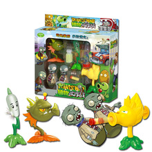 plants Vs Zombies Pvc Action Figure Set Collectible Mini Figure Model Toy Gifts Toys For Children High Quality Brinquedos No Box цена 2017