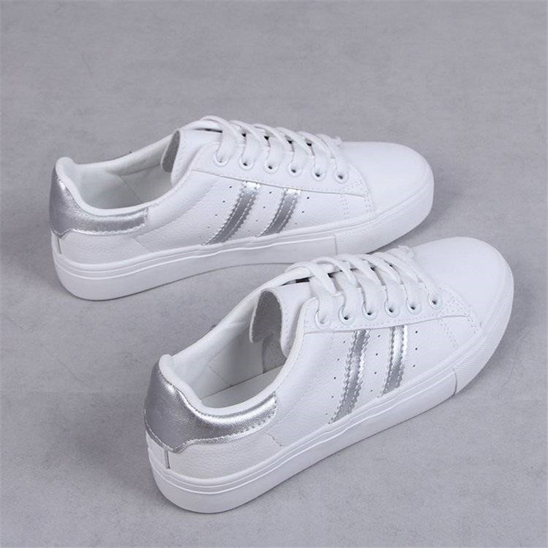 Women Casual Shoes Female Casual Women Sneakers Flats Girl Breathble Vulcanized Shoes Lace Up White Shoes Zapatos De Mujer