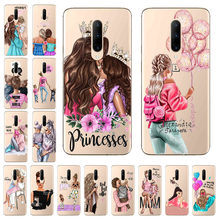 Funda trasera pintada Super Mom Baby para Oneplus 5 5T 6 6T 3 3T 7 Pro funda para One plus 7Pro funda transparente suave(China)