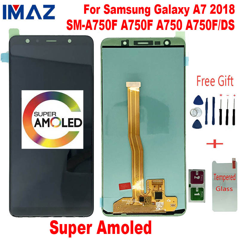 IMAZ AMOLED For <font><b>Samsung</b></font> <font><b>Galaxy</b></font> <font><b>A7</b></font> <font><b>2018</b></font> SM-A750F A750F A750 LCD <font><b>Display</b></font> Touch Screen Digitizer Assembly Replace For A750F/DS lcd image