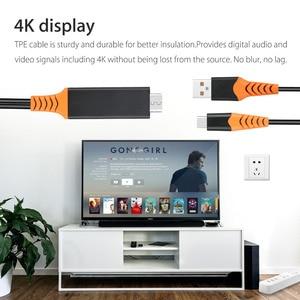 Image 2 - USB 유형 C HDMI 케이블 Macbook 용 HDTV AV 비디오 어댑터 LG G5 Samsung Galaxy S10 + S10e S9 + S8 + Note9 참고 8 Android Phone to TV