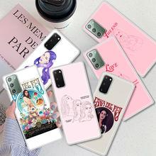 Funda de Lana Del Rey para Samsung Galaxy S10, S21, S20, FE, S9, S8 Plus, carcasa mate para Note 20, Ultra 9, 10 Lite