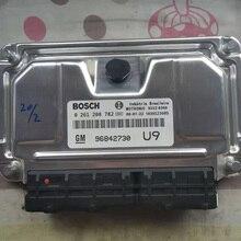 Original New Engine Computer Board ECU 96842730 0261201458 HZ 0261208782 U9 For Opel ASTRA Chevrolet Capaci