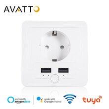 AVATTO Thông Minh USB Ổ Điện 16A EU Wifi Cắm Điện Hoạt Động Với Google Nhà Alexa IFTTT Tuya Cuộc Sống Thông Minh Ứng Dụng tiếng Nói Điều Khiển Từ Xa