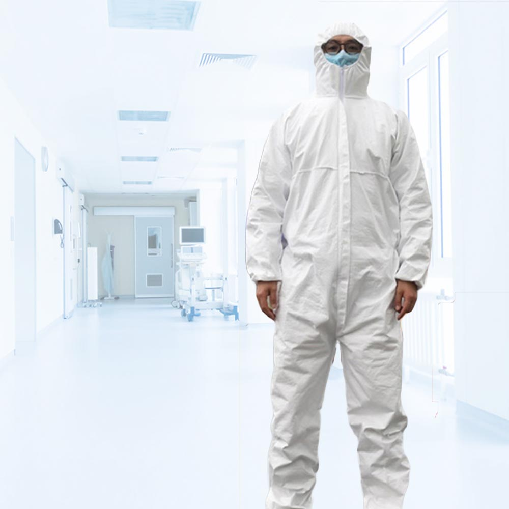 One Size Dustproof Anti Infection Liquid Coveralls Tyvek Protective Clothing Anti-fog Full Body Suit Unisex Protective Clothing