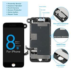 Image 1 - Montagem completa tela oem para iphone 8 mais display lcd digitador substituição com câmera frontal + alto falante placa pantalla