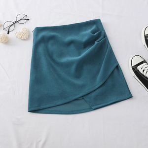 Image 5 - HELIAR jednolite, nieregularne spódnica Hem A Line Micro spódnica na plażę styl Preppy spódnica z plisowaną spódnica z wysokim stanem dla kobiet 2020 lato