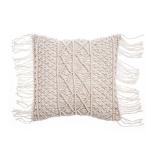Macrame Hand-woven Cotton Thread Pillow Covers 100% Linen Geometry Bohemia Cushion Home Decor 45*45cm