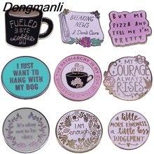 Bg271 dongmanli положительные цитаты ювелирные изделия эмаль