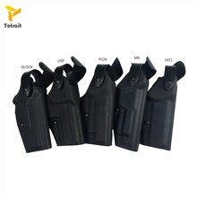 Totrait Military Army Tactical Safariland Holster M9 GL17 1911 USP P226 Gun Carry Case Right Hand Quick Drop Gun Belt Holster