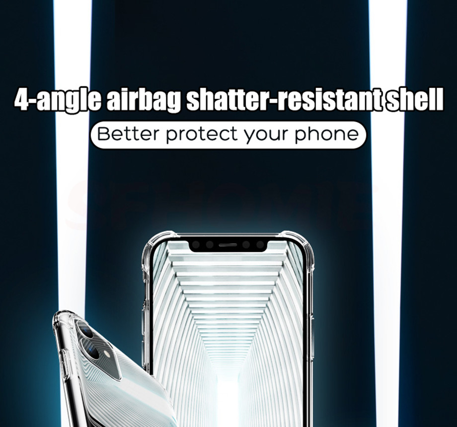 H9b12e3f6cece4e7cb16ac0050f78f697Y - Luxury Shockproof Silicone Phone Case For iPhone 11 Pro X XR XS MAX 6 6s 7 8 Plus Case Covers Transparent Protection Back Cover