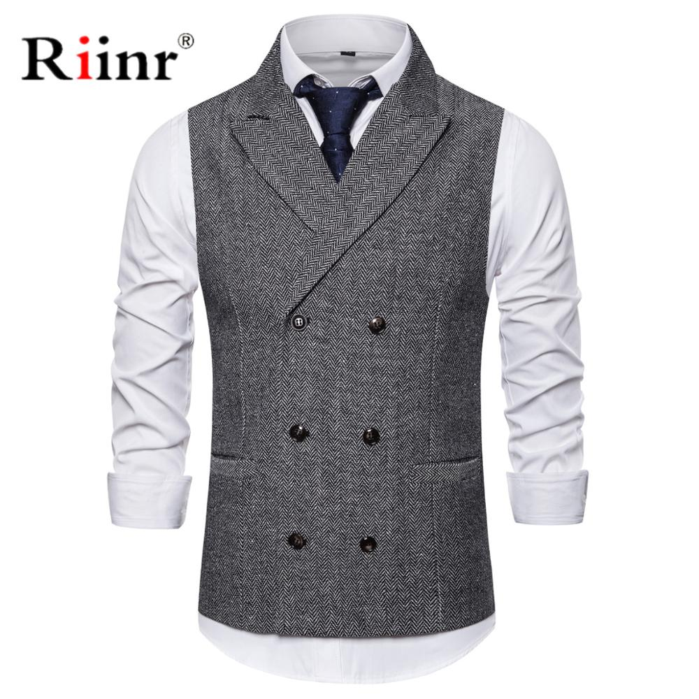 Mens Formal Double Breasted Vests Classic Suit Gilet Homme Slim Fit Coffee Waistcoat Men Marriage Chalecos Para Hombre