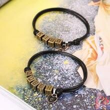 Простой Модный Универсальный студенческий браслет для пары с