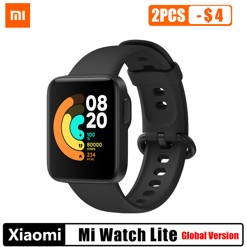 Xiaomi Mi Watch Lite-reloj deportivo inteligente con GPS, Bluetooth 5,1, Monitor de ritmo cardíaco, pantalla LCD de 1,4 pulgadas, resistente al agua hasta 5 ATM