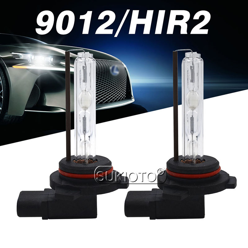 SUKIOTO 2PCS 35W 55W 9012 HIR2 HID Xenon Bulb 4300K 5000K 8000K 6000K AC 12V Car Light HID Replacement Bulb For 9012 Xenon Kit