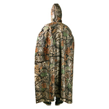 Multifunctional Rain Coat Portable Hiking Camping Raincoat Poncho Jacket Pockets Mat Awning Outdoors Rain Gear Supplies 3 In 1