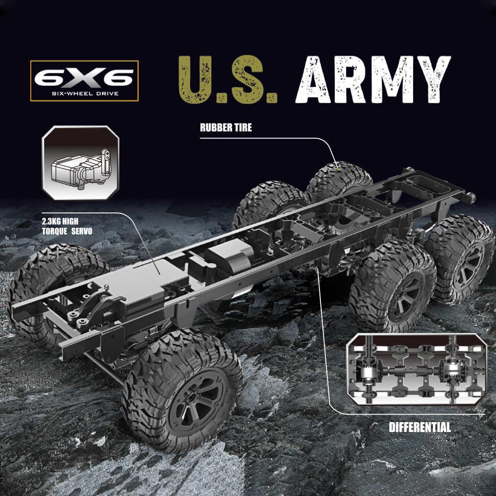Fayee 1/12 RC شاحنة عسكرية 2.4G 6WD 20 km/h التحكم عن بعد الجيش الأمريكي شاحنة عسكرية RTR نموذج في الهواء الطلق سيارة دمى هدايا طفل