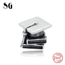 SG New Authentic 925 Sterling Silver 2017 book bead Fits pandora european Charms Bracelet DIY Jewelry