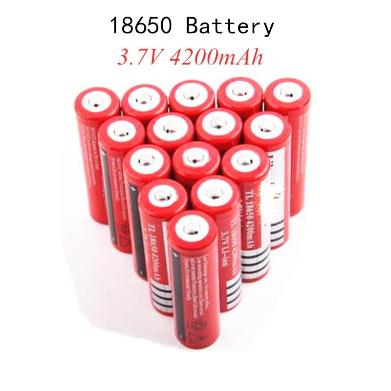 2/4/6/10/20 pçs 100% original novo 18650 3.7 v 4200 mah 18650 bateria recarregável de lítio para gtl evrefire lanterna baterias