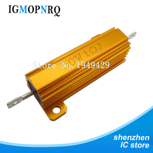 Image 3 - RX24 50W Aluminum Power Metal Shell Case Wirewound Resistor 0.01 ~ 100K 0.1 1 1.5 2 6 7 8 10 20 100 150 200 300 1K 10K 100k ohm