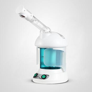 Dokładne czyszczenie urządzenie parowe do twarzy z ozonem Nano jonowe do czyszczenia twarzy twarzy Sauna Spa urządzenia do gotowania na parze termalny do twarzy pary narzędzie do pielęgnacji skóry tanie i dobre opinie hugebreen Electric CN (pochodzenie) Facial vapor 2328 White+blue 110V 220V 350W Ozone ion facial steamer 950g 220*175*143mm