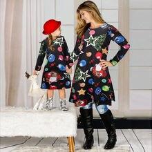 Рождественские платья семейные одинаковые наряды Рождественская
